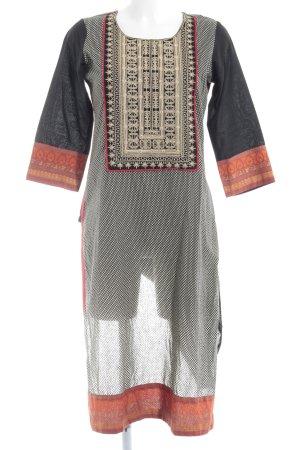 Vestido tipo túnica Mezcla de patrones estilo extravagante