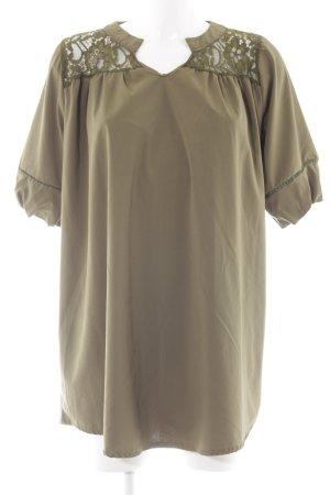 Tunikakleid olivgrün Casual-Look