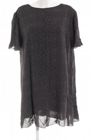 Tuniekjurk zwart gestippeld patroon casual uitstraling