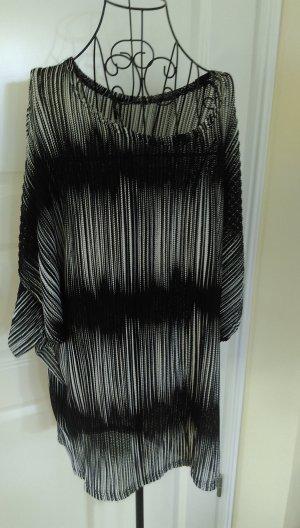 Tunikakleid schwarz weiß