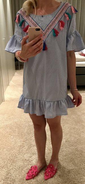 Tunic Dress white-azure