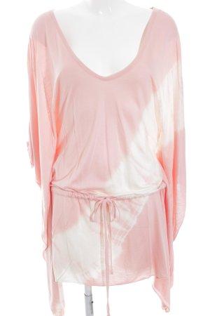 Tuniekjurk wit-roze batik patroon Boho uitstraling