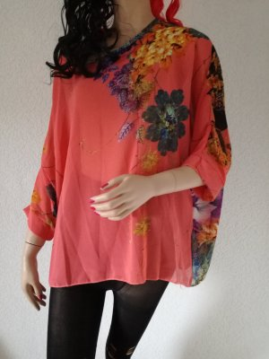 Tunikashirt Blumenmuster Tunika Shirt transparent Flower