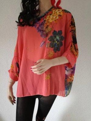Tunikashirt Blumenmuster Tunika Shirt transparent Flower Strand