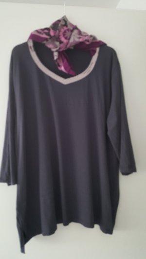 Couture Line T-shirt col en V gris lilas viscose