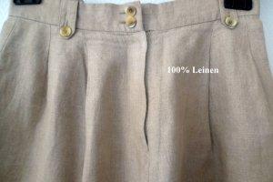 Turnover Pantalón de lino beige claro Lino
