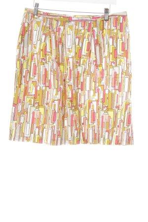 Turnover Bleistiftrock abstraktes Muster extravaganter Stil