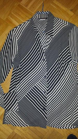 Turnover Bluse Gr.40 schwarz-creme graf. Muster