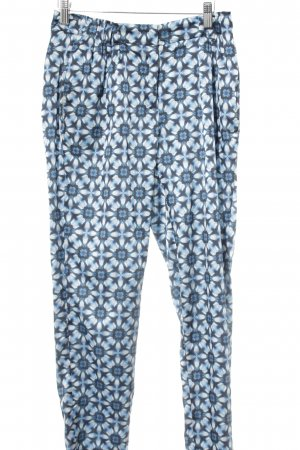 Turnover Pleated Trousers flower pattern elegant