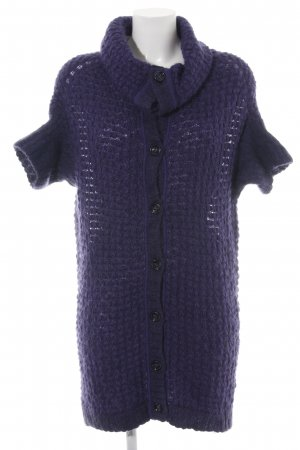 Turnover Cardigan lila Zopfmuster Casual-Look