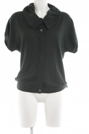 Turnover Cardigan grün-schwarz Casual-Look