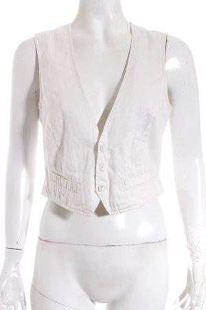 Turnover Gilet en jean beige clair style d'affaires