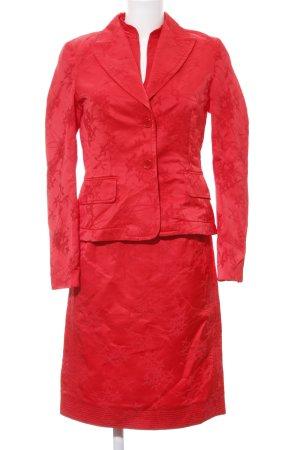 Turnover Kostüm rot florales Muster Elegant