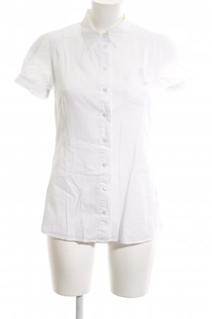 Turnover Short Sleeve Shirt white business style