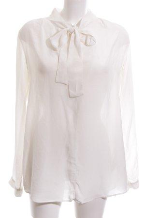 Turnover Langarm-Bluse wollweiß-weiß Elegant