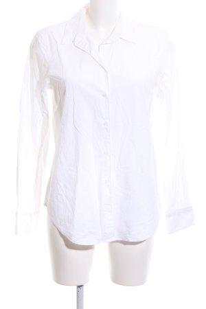 Turnover Camisa de manga larga blanco estilo «business»