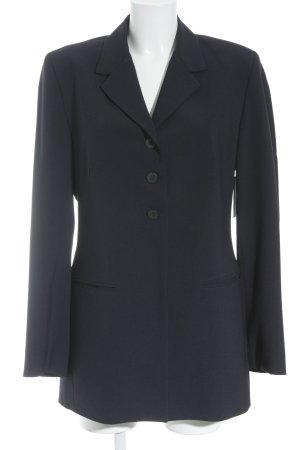 Turnover Long-Blazer dunkelblau Business-Look