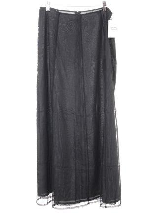 Turnover Maxi Skirt black-anthracite elegant