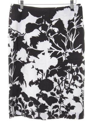 Turnover Falda midi negro-blanco estampado con puntos de colores look casual