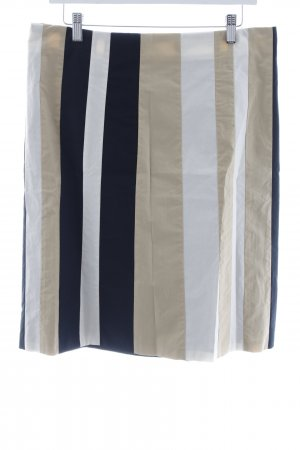 Turnover Midi Skirt striped pattern casual look