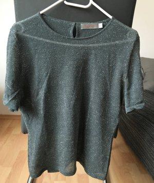 Turnover Shirt Vintage Grau Glitzer Oversize
