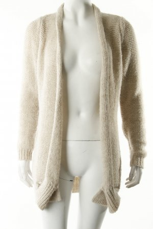 Turnover Strickjacke beige