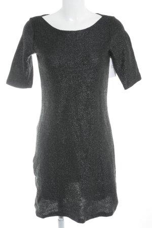 Turnover Knitted Dress black elegant