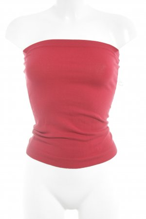 Turnover Knitted Top red casual look