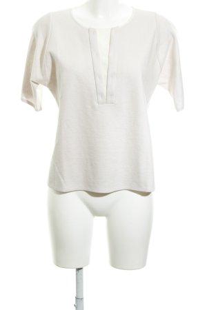 Turnover T-Shirt creme-altrosa klassischer Stil