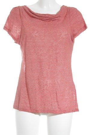 Turnover T-Shirt weiß-rot sportlicher Stil