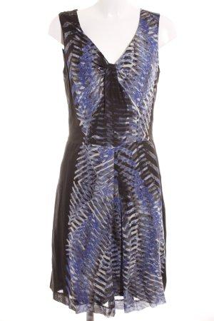 Turnover Trägerkleid abstraktes Muster Elegant