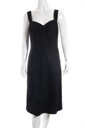 Turnover Trägerkleid schwarz Elegant