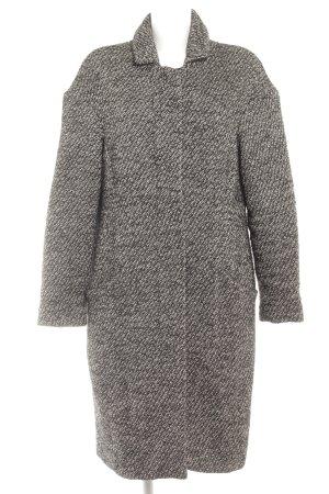 Turnover Cappotto mezza stagione nero-grigio chiaro puntinato