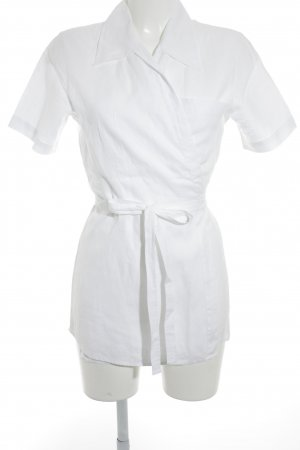 Turnover Wraparound Blouse natural white elegant