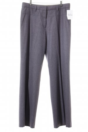 Turnover Woolen Trousers lilac elegant