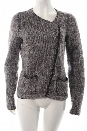Turnover Wolljacke Animalmuster Kuschel-Optik