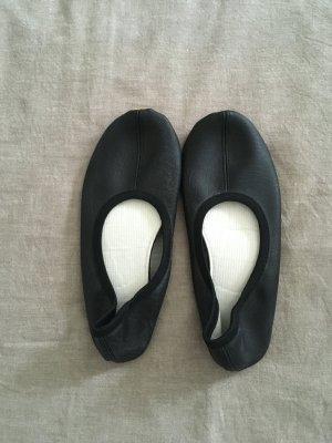Zapatillas para casa negro Imitación de cuero