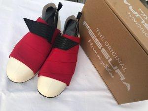Italian Shoes Zapatillas con velcro rojo