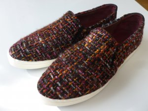 Marc O'Polo Slip-on Shoes bordeaux-light orange mixture fibre