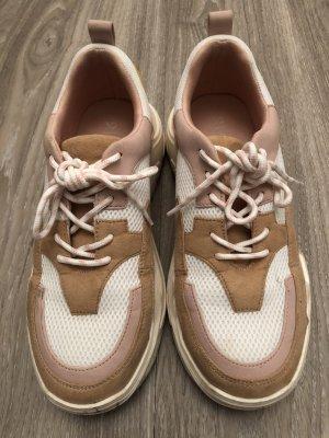 Amisu Scarpa stringata color oro rosa-giallo pallido