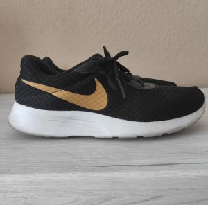 Nike Lace Shoes black-gold-colored