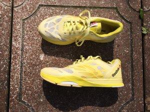 Turnschuhe Sneaker Reebok gelb zitrone  Sport Schuhe sneaker sneaker
