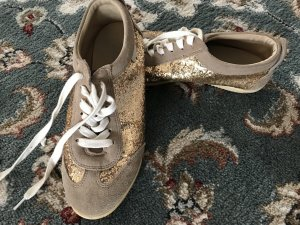 Turnschuhe / Sneakers Buffalo Gold Leder Beige Gr. 39