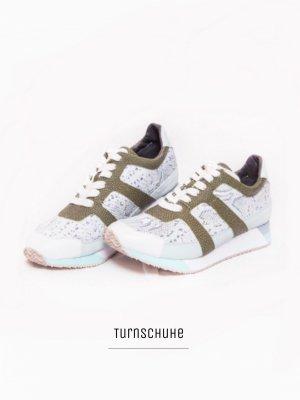 Turnschuhe Sportschuhe sneaker schur Laufschuhe Marken Schlangen Leder (NP: 219€) / Marc Cain