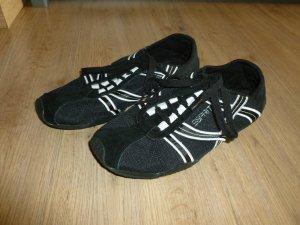 Turnschuhe Stoffschuhe schwarz weiß Esprit