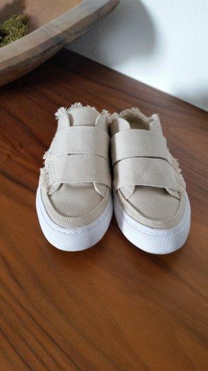 Zara Ciabatta beige chiaro-bianco