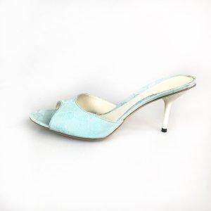 Turquoise Gucci Flip Flop