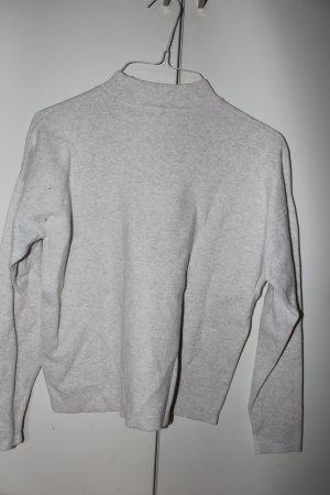 H&M Jersey de cuello alto color plata tejido mezclado