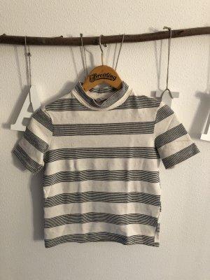 Zara Trafaluc Camisa de cuello de tortuga crema-negro