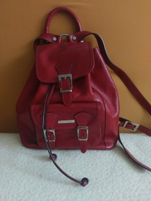Backpack dark red leather